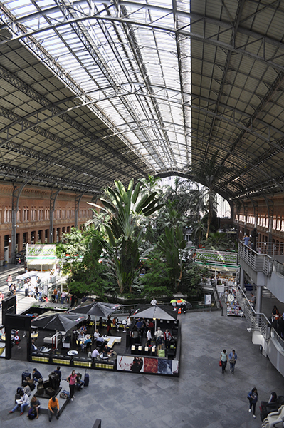 Madrid Atocha Station courtyard